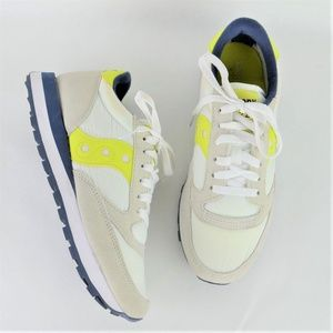 Saucony JAZZ Womens Sneakers Yellow White size 8.5
